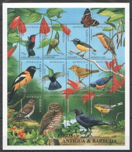 NW0488 ANTIGUA & BARBUDA FAUNA BIRDS OF ANTIGUA & BARBUDA 1SH MNH