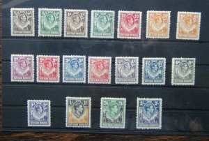 Northern Rhodesia 1938 - 1952 values to 3s MM