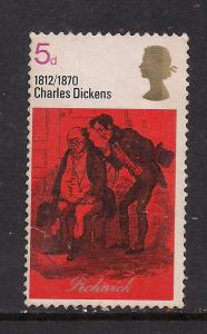 GB 1970 QE2 5d Dickens used stamp SG 824. ( D608 )
