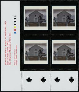 Canada 1945 BL Plate Block MNH Art, Church & Horse