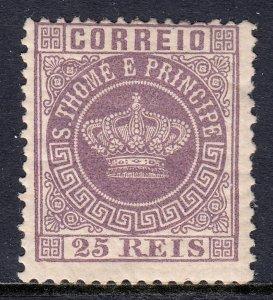 St. Thomas and Prince Islands - Scott #12 - MH - Regummed - SCV $2.25