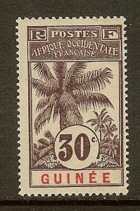 French Guinea, Scott #40, 30c Oil Palm, MH