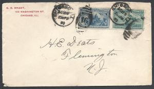 Scott 230, 232, Chicago ILL, 1893 Columbian Issue