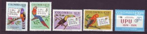 J23967 JLstamps 1974 colombia mnh #c611-4 + c598  upu