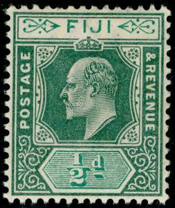 FIJI SG104, ½d green & pale green, LH MINT.