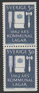 Sweden #612 pair F-VF Mint NH ** Reform Laws