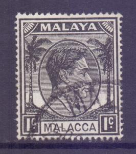 Malaya Malacca Scott 3 - SG3, 1949 George VI 1c used