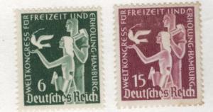 Germany Scott 477-478 MH* 1936 stamp set