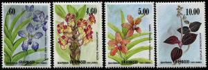 HERRICKSTAMP SRI LANKA Sc.# 722-25 Orchids Stamps Mint NH