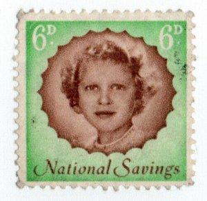(I.B) National Savings : Princess Anne 6d (1958)