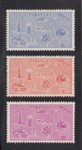 Pakistan Scott #92-94 MH