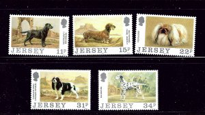 Jersey 447-51 MNH 1988 Dogs