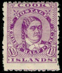 COOK ISLANDS SG7, 1½d mauve, M MINT. Cat £18.