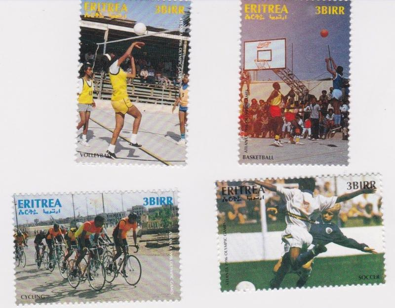Eritrea - Olympics, Basketball, Football, 1996 - Sc 267-70 Set of 4 MNH