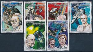 [64173] Central African Republic 1987 Space Travel Weltraum Astronauts  MNH