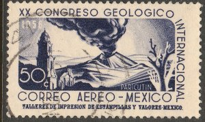 MEXICO C235, 50¢ Interamerican GEOLOGICAL Cong. Used. F-VF. (1104)