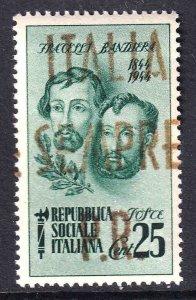 ITALY SOCIALIST 32 ITALIA SIEMPRE P.R. OVERPRINT OG NH U/M VF