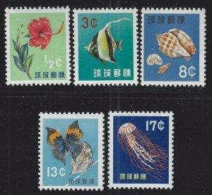 Ryukyu Islands Scott 48-52 Mint Never Hinged