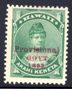 Hawaii #55, mint hinged, wide margins