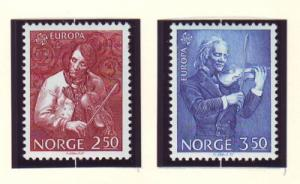 Norway Sc 861-2 1985 europa, Musicians, stamp set mint NH