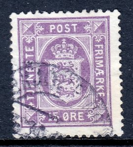 Denmark - Scott #O23 - Used - Small thin, hinge bump - SCV $40