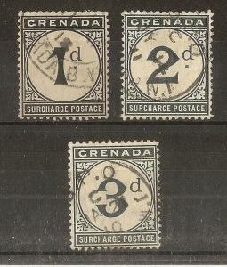 Grenada 1906 Dues Set SG.D8-D10 Fine Used