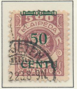 Memel Stamp Scott #N50, Used - Free U.S. Shipping, Free Worldwide Shipping Ov...