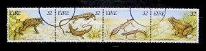 Ireland 1995  Reptiles and Amphibians Ordinary Gum Used Full Set A22P20F9037