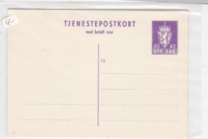 norway unused stamps card ref 19396