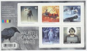 Canada - #2860 Haunted Canada Souvenir Sheet 2015 - MNH
