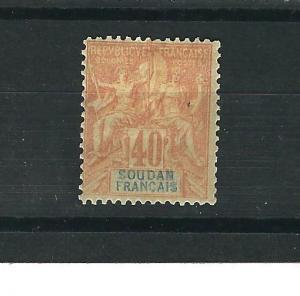 French Sudan 15 MH Fine 1892 SCV $35.00