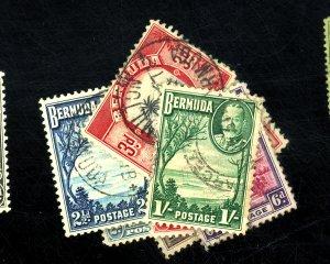 BERMUDA #105-113 USED F-VF Cat $34