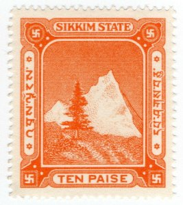 (I.B) India (Princely State) Revenue : Sikkim Duty 10p
