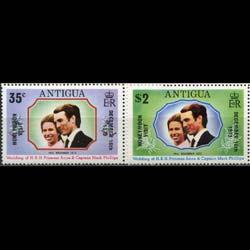 ANTIGUA 1973 - Scott# 323-4 Royal Visit Opt. Set of 2 NH