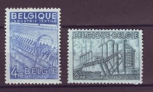 J14813 JLstamps 1948 belgium part of set mh #383-4 $33.00 scv