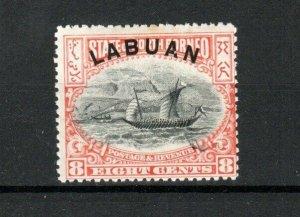North Borneo - Labuan 1897-1901 8c MNH