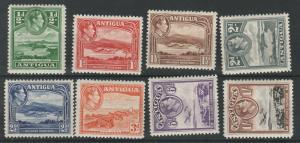ANTIGUA 1938 KGVI PICTORIAL 1/2D TO 1/-