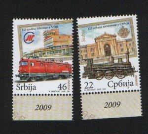 SERBIA-MNH-SET-RAILROAD-LOCOMOTIVE-2009**