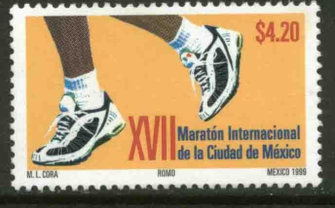 MEXICO 2154, 17th Mexico City Marathon. MINT, NH. VF.  (69)