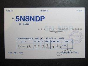10322 Amateur Radio QSL Card NIGERIA