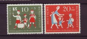 J25279 JLstamps 1957 germany set mnh #b354-5 children