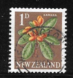 New Zealand 334c: 1d Karaka (Corynocarpus laevigatus), used, F-VF