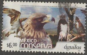 MEXICO CONSERVA 2263, $6P EAGLES. USED. VF. (975)