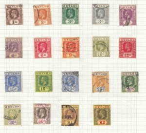 CEYLON QUEEN VICTORIA AND KGV ISSUES MLH AND LIGHT USED