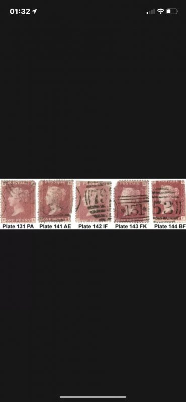 5off Used SG 43/44 Stamps [Ideal as Gap Fillers Cat £103] (2862)
