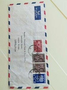 MALAY STATE SELANGOR COVER FROM kUALA lUMPUR TO UK