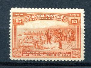Canada # 102 Mint VF O.G.  LH  - Lakeshore Philatelics