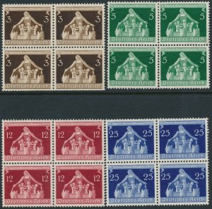 Stamp Germany Mi 617-9 Blocks Sc 473-6 WWII 3rd Reich Berlin Munich MNG