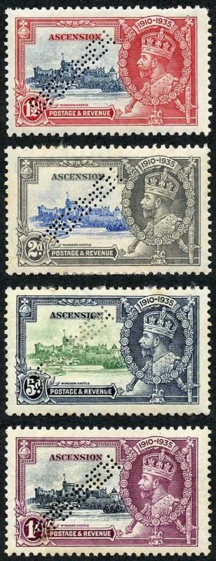 Ascension SG31s/4s 1935 Silver Jubilee Perf Specimen Set M/M