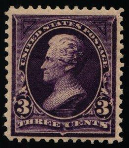 Scott #221 VF - 3c Purple - Jackson - MNH - 1890